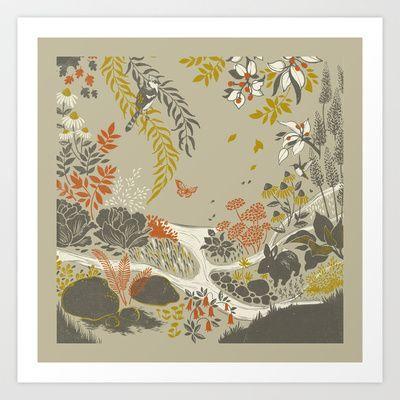 the rain garden Art Print by Teagan White - $17.00