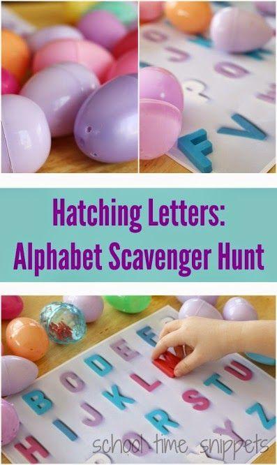 复活节字母表活动 - 用这个有趣的配对活动教你的孩子字母表的字母!