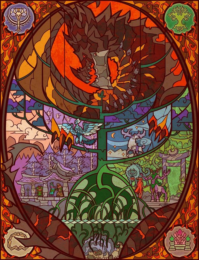 hour of twilight by breathing2004.deviantart.com on @deviantART wow world of warcraft stained glass