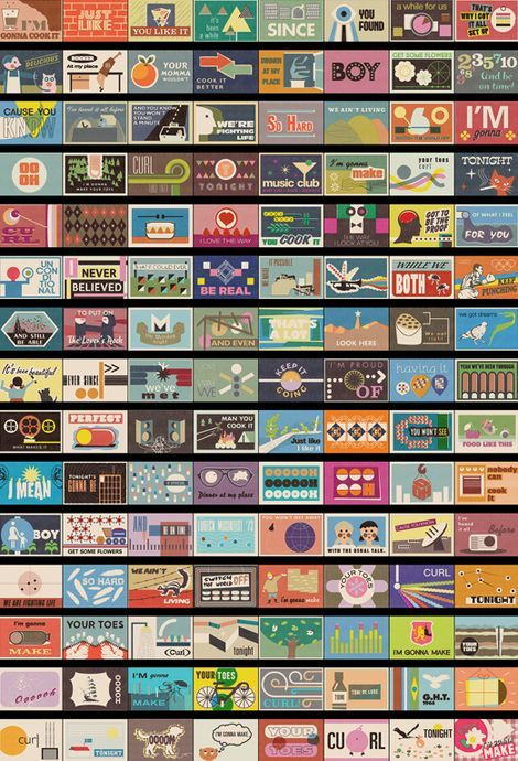 178 matchbox designs by pavel fuksa for a narrative music video PD