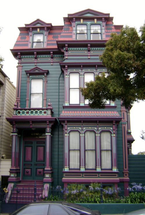 San Francisco Victorians by Larry Syverson Via Flickr: Victorian homes in the Eastlake/Stick style in the Alamo Square Historic District.