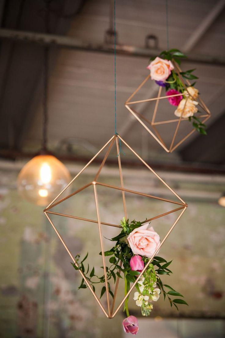 DIY工业几何灵感婚礼