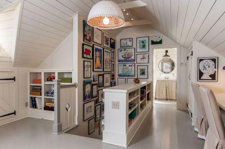 阁楼游戏室和艺术墙