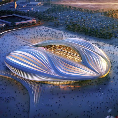 Zaha Hadid unveils design for Qatar 2022 World Cup stadium. (Article includes video showing the design)
