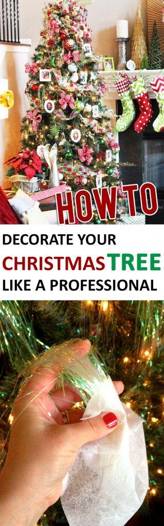 如何像专业人士一样装饰圣诞树 - 将新手圣诞树变成杰作的技巧和窍门。