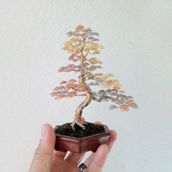 花式 - 铁丝盆景树雕塑