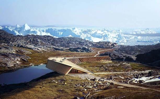 Dorte Mandrup建筑师事务所在伊卢利萨特的Icefjord中心。由@missdesignsays发现