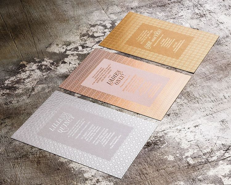 Zed & Bee Collection - Contemporary Patterned Foil Invitation Series