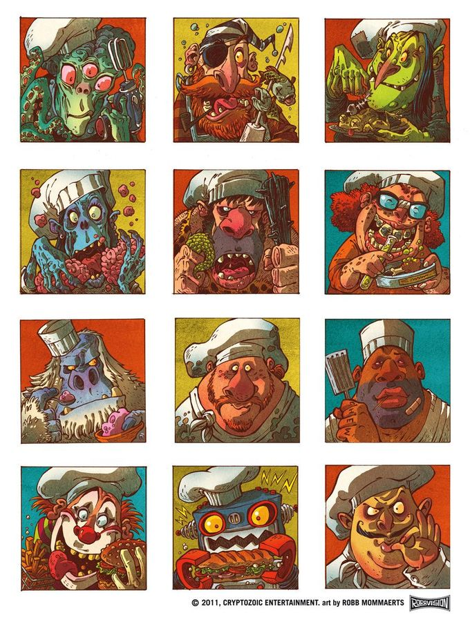 Food Fight Chef Avatars by RobbVision on DeviantArt