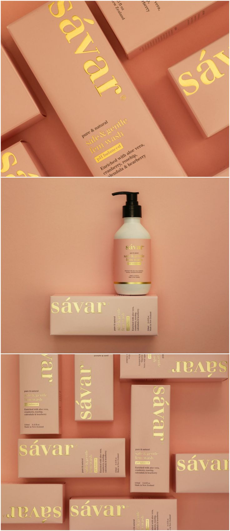Elevating a Female Wash from a Basic Pharma Product to High-End Lifestyle Design Agency: Redfire Brand / Project Name: Savar Fem Wash Location: New Zealand Category: #Health #Beauty #Cosmetics World Brand & Packaging Design Society