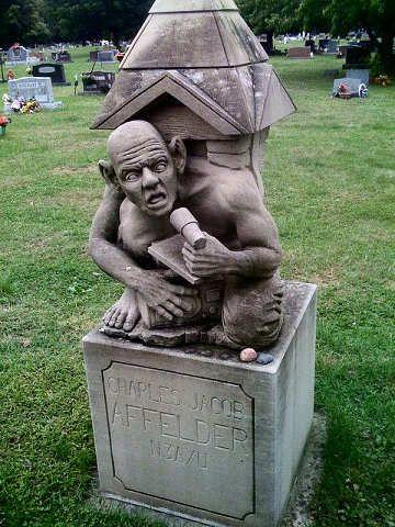 查尔斯雅各布Affelder的坟墓在Chesterton公墓,印第安纳。