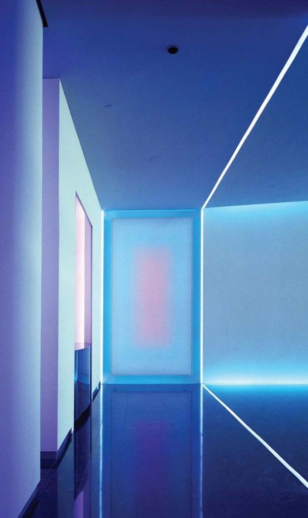 Futuristic Interior, The Wolfsburg Project, using light as an artistic medium to illustrate architectural spaces // James Turrell