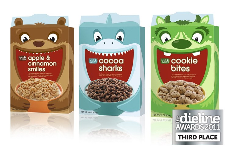 Fresh & Easy Kids Cereals | By P&W Design Consultants | Third Place | The Dieline Awards 2011