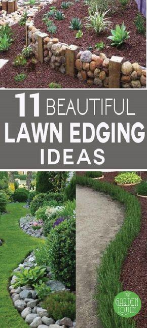 这些创意和草坪边缘的创意不会超出您的预算,并且可以立即改善您花园的美感。查看!