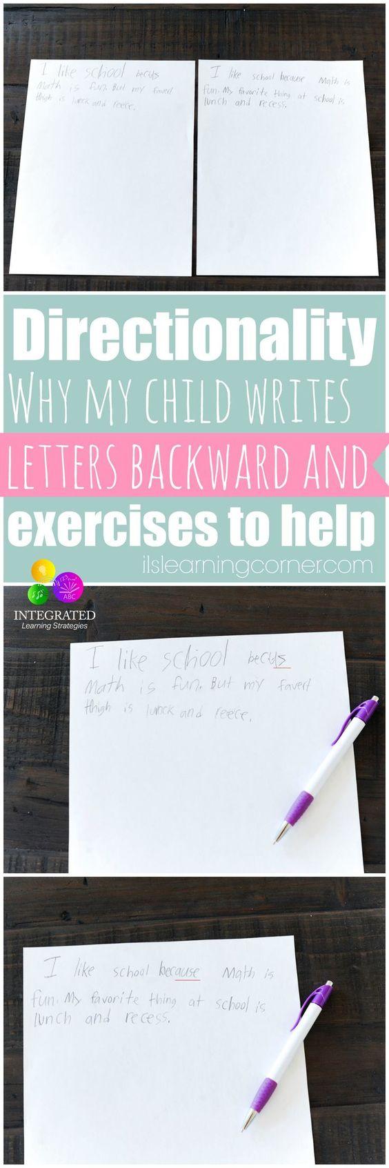 为什么方向性和写字母落后可能意味着空间和视觉问题,当教你的孩子更好的手写技巧。