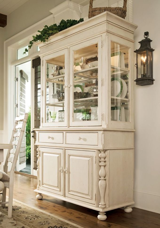 Universal Furniture - Paula Deen Home - Buffet with Hutch in Linen, available at Furnitureland South.
