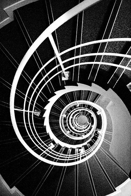 Spiral Staircase in Black and White | Flickr - Photo Sharing!