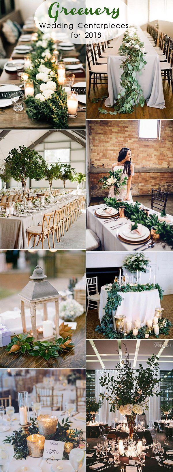 2018年婚礼潮流的迷人绿色婚礼中心