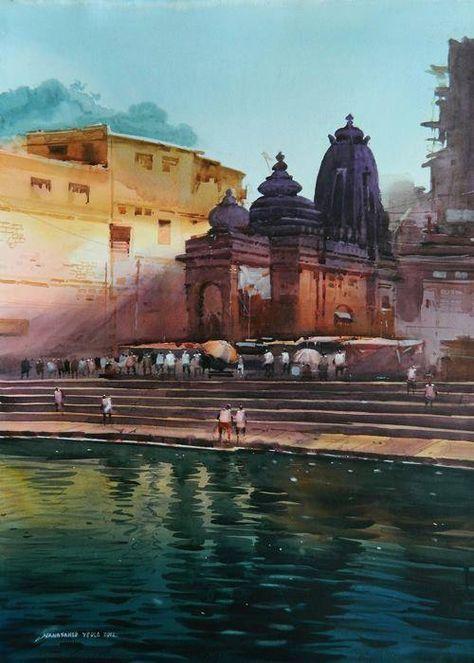 Watercolour paintings by Nanasaheb Yeole on Behance