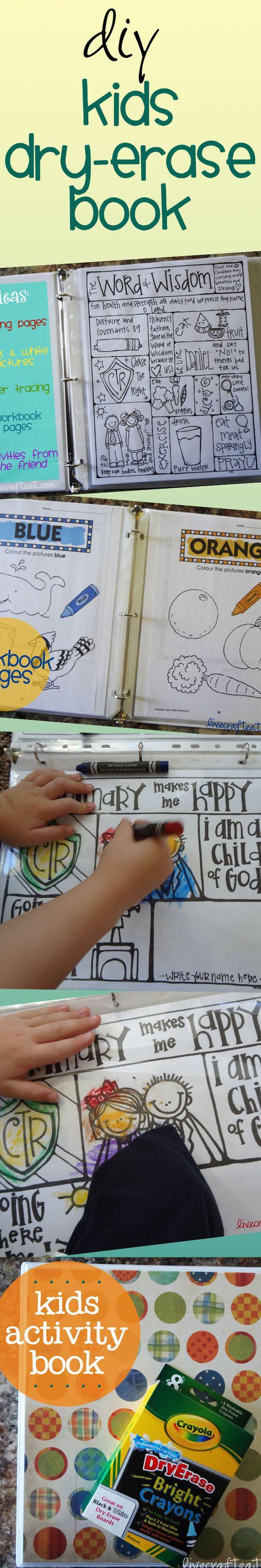 按照这些简单的说明制作您自己的干擦儿童活动手册,让您的孩子在任何场合都可以享受娱乐。