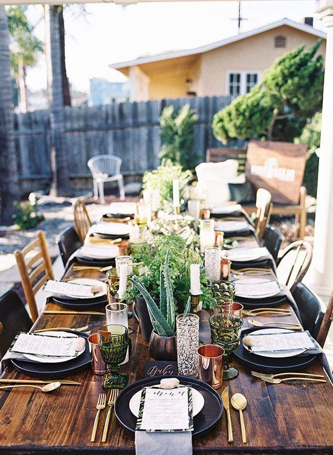 朴实的户外晚宴 - 灵感来自于此