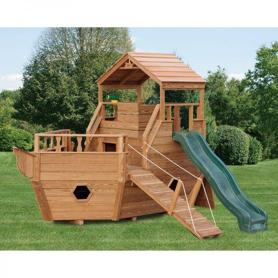 Amish制造的12英尺木制拖船游乐场套装 -  5,155.00美元