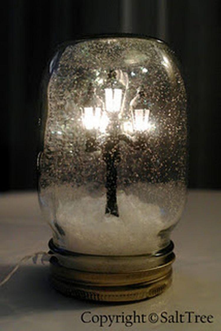 微型路灯雪地球
