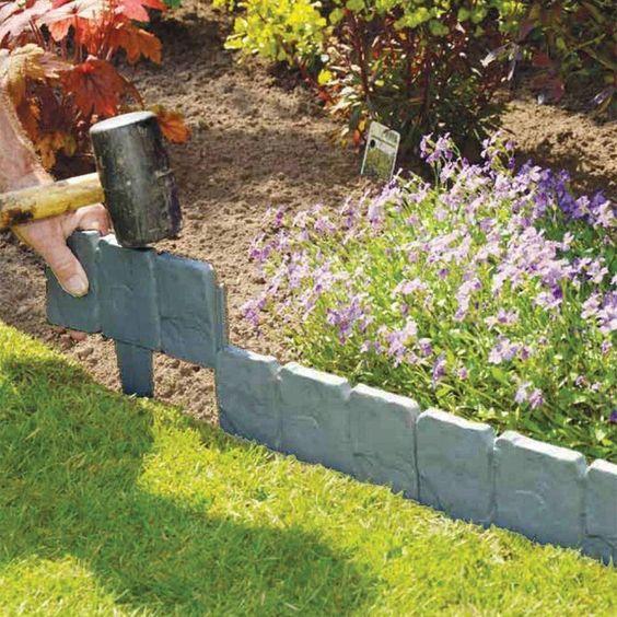 $ 1.99  -  5M灰色石头作用草坪草边缘庭院植物花床边境#ebay#家庭及花园