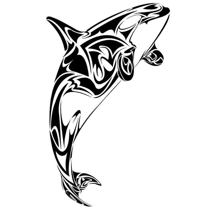 whale tattoo silhouette - Google Search
