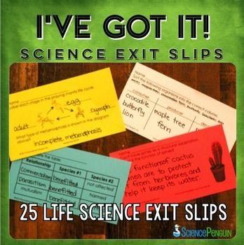 我懂了!生命科学退出滑动这25个生命科学退出单是完美的,可以在课程结束时快速检查。使用方法:•打印您需要使用的页面。每页有6张卡片。 •学生只需花一点时间回答