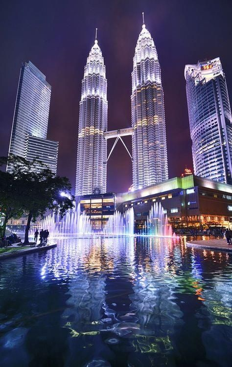 Petronas Towers, Kuala Lampur, Malaysia. See these magnificent buildings and go window shopping inside while on a TEFL adventure