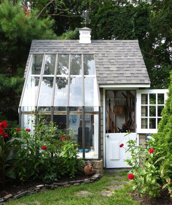 花园灵感:一个自制的盆栽棚。