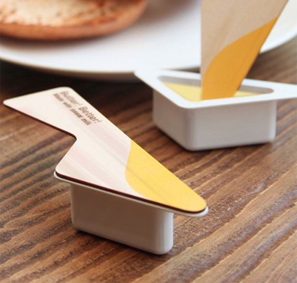 Cool butter containers! Definitely makes you want to buy them and use them for traveling or if you are using lunch to-go. Very convenient!  Margot Kessler