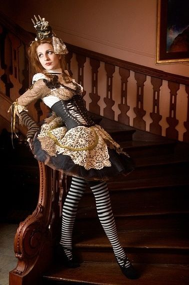 victorian steampunk clothing for women | ... Steampunk Dresses: Women's Corsets in the Steampunk Style