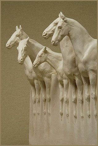 Susan Leyland, Horse Block Sculptures are exquisite, majestic and beautiful.