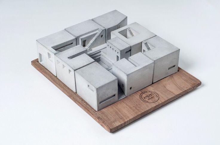Imaginario Sugestivo的微型混凝土建筑
