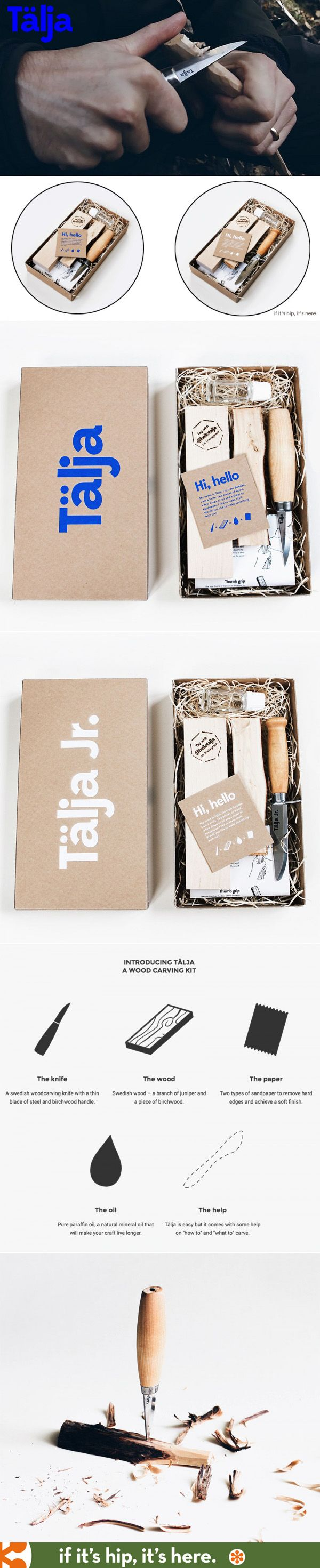Talja Carving kits show how a few simple items, when packaged together in a well-designed manner, become a cool gift. PD