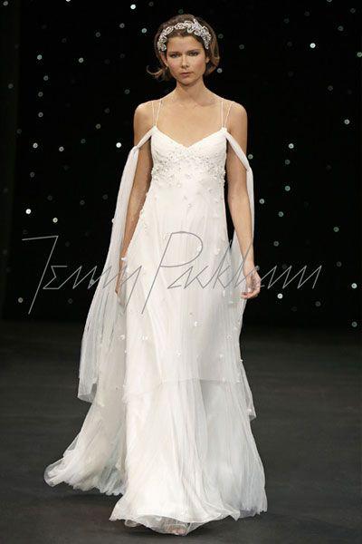 Jenny Packham的婚纱让我爱上了苗条的身影