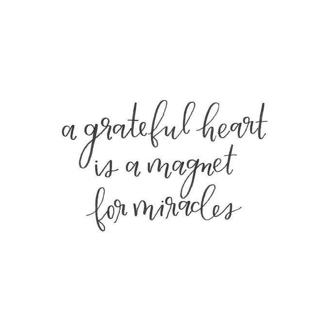 感恩的心是创造奇迹的磁铁