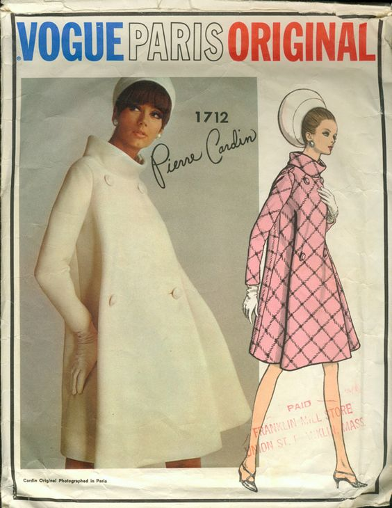 Vogue 1960s, Pierre Cardin - Coat