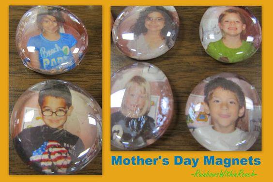 母亲节为孩子们准备的礼物:母亲节照片磁铁加上母亲节的锚图诗通过RainbowsWithinReach