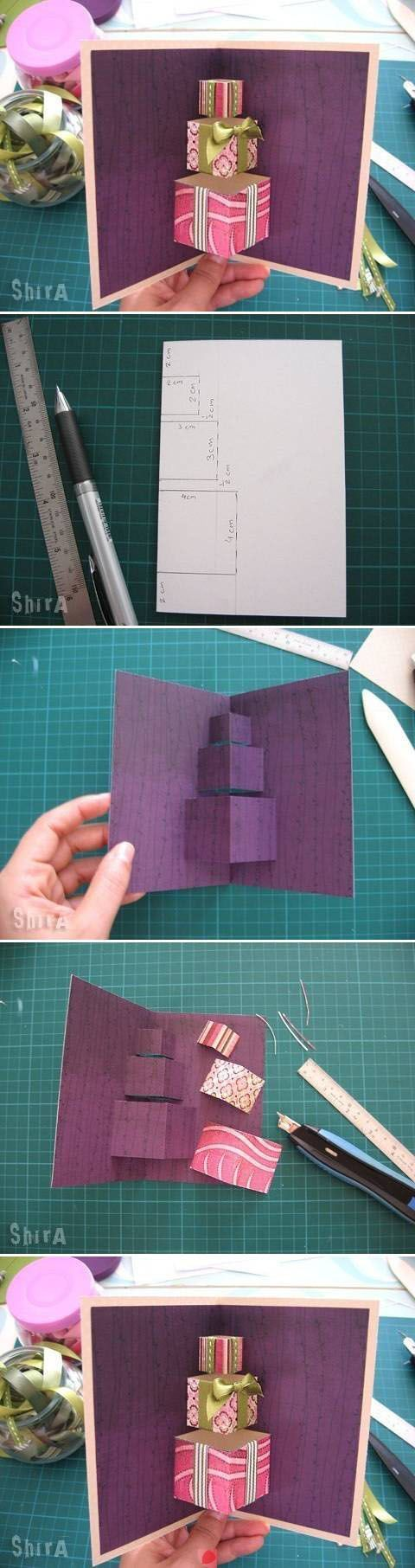 How to make a birthday present 3d pop up card