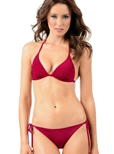 Raspberry String Triangle Two Piece Swimsuit!  Beauty is knocking at your door, don't let it go away! Get this gorgeous two piece triangle swimsuit and invite it to come in. PRICE $110