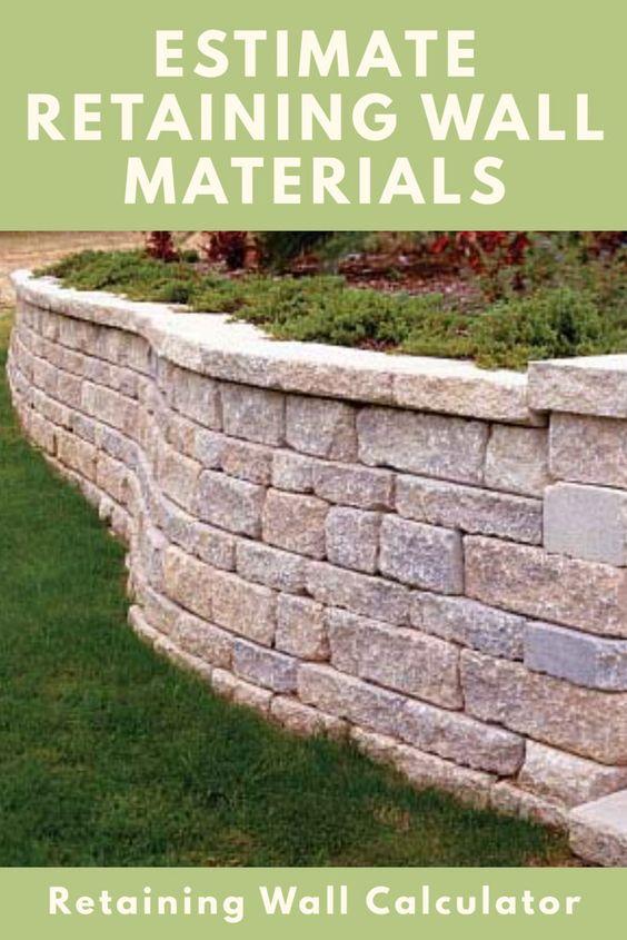 查找需要多少挡土墙才能建造墙体并估算挡土墙的成本。支持任何块大小和木材。