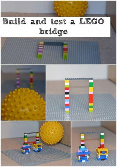 如何建立一个稳定的乐高桥,乐趣LEGO活动为所有年龄段的孩子。