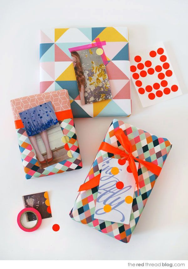 Make lovely gift tags from magazine pages - via the red thread