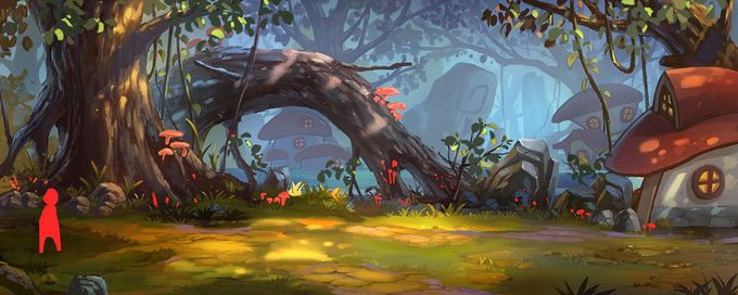 ArtStation - forest, Yin Wang