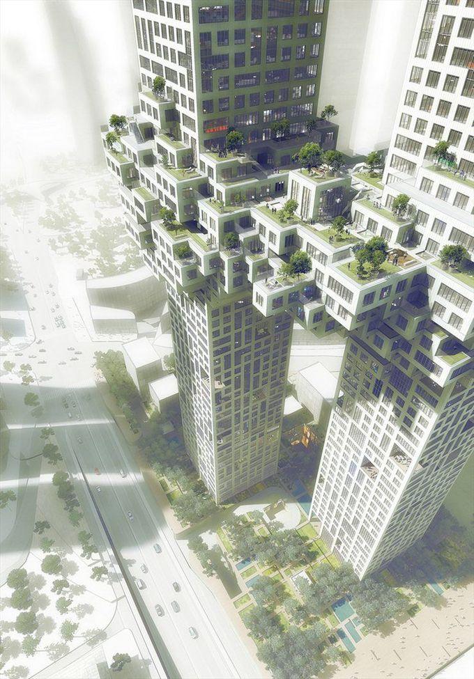 The Cloud by MVRDV #architecture #luxury #korea #seoul #towers