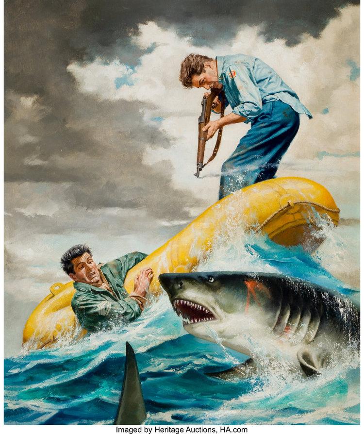 ... shark battle!