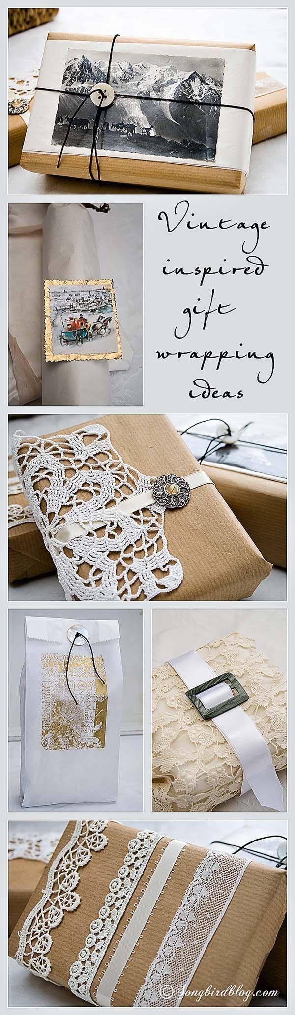 6复古风格圣诞礼品包装的想法。这些礼品包装的想法使您自己包装圣诞礼物。他们很容易!